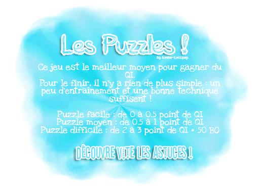 Astuce pour les puzzles !
