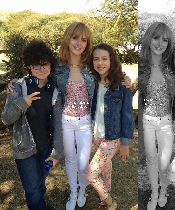 Nouvelle photo Twitter de Bella et Tristan le 30 juin 2013.