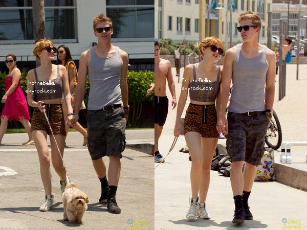 Bella et Tristan à la place de Santa Monica le 30 juin 2013.