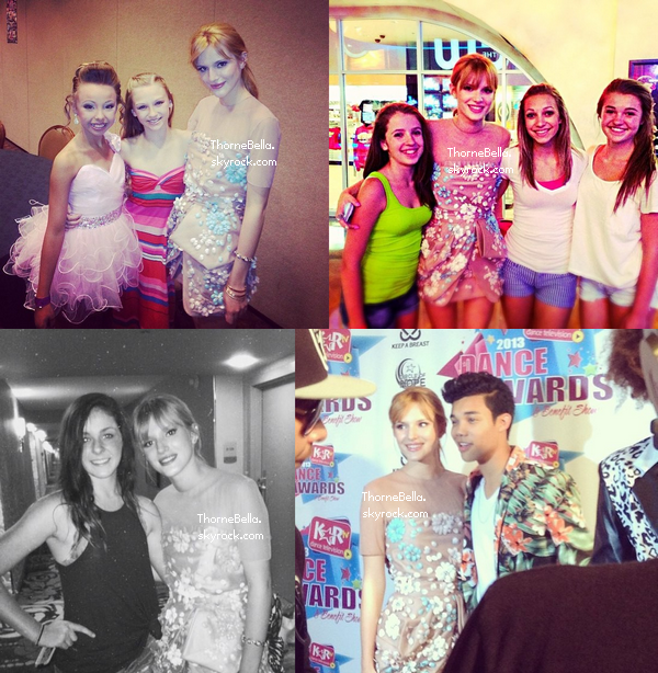 Bella au KartTV DanceAwards le 3 juillet 2013. (photos twitter)